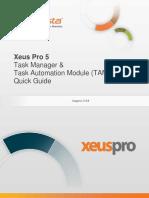InfoVista Xeus Pro 5 Task Manager & TAM Quick Guide