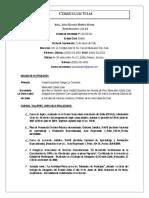 Sintesis Curricular Jorge Ramírez (Actualizado 2016)