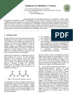 Propiedades Químicas de Aldehídos y Cetonas