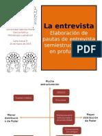 UGM Metodología Cualitativa II Pauta de Entrevista