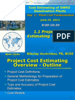 1.1 Proj Cost Esitimating - Overview