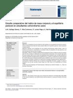 Estudio Comparativo Del Índice de Masa Corporal y El Equilibrio