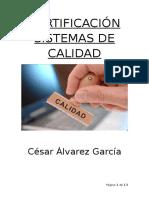 Certificación Sistemas de Calidad