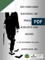 Resultado do XXV Concurso Nacional de Poesias Augustos dos Anjos