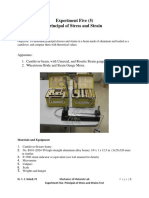 5. Lab Manual for Principal of Stress and Strain LAb 5