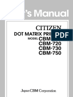 Citizen Dot Matrix CBM710/720/730/750 Manual