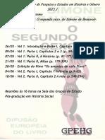 Calendário Grupo de Estudos 2015