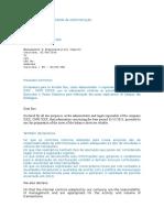 Carta à Administração da Companhia