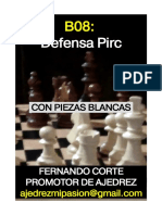 63-b08 Defensa Pirc Con Blancas
