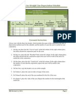 Instructions for How to Create a Straight Line Depreciation Schedule