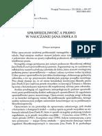 Sprawiedliwość a prawo w nauczaniu Jana Pawła II-Marek Piechowiak