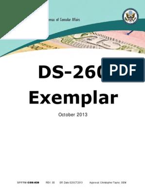 Ds 260 Exemplar Pdf Profession Question