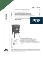 Jotul F 602 Installation Guide
