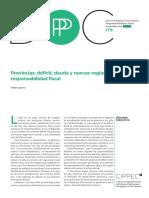 179 DPP ADE, Provincias Déficit, Deuda y Nuevas Reglas de Responsabilidad Fiscal, Walter Agosto, Noviembre 2016
