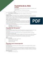 La Filosofia Del Peru y Latinoamerica