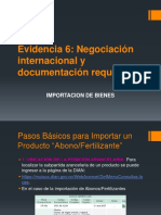 Evidencia 6 Negociación Internacional y Documentación Requerida