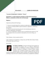 Programa Curso Rehab Vestibular Temuco