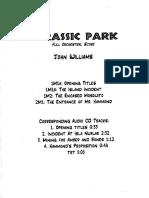 John Williams - Jurassic Park - Full Score (Hand Written)