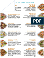 Sweetcatch Poke menu