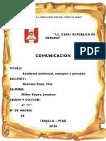 Realismo Universal Europeo y Peruano