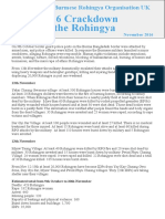 A Briefing by BROUK - 2016 Crackdown on Rohingya
