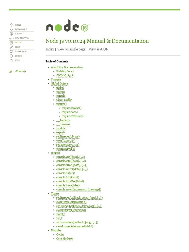 nodejs pdf | Scope (Computer Science) | Port (Computer Networking)