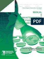 Manual Mantenimiento Para Equipo Llaboratorio