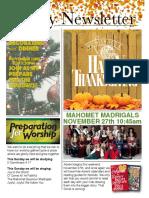 November 21 Newsletter