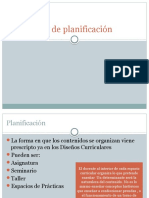 Differentes Formatos de Planificación