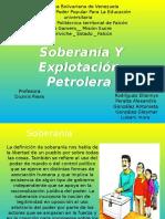 Soberania y Explotacion Petroleta