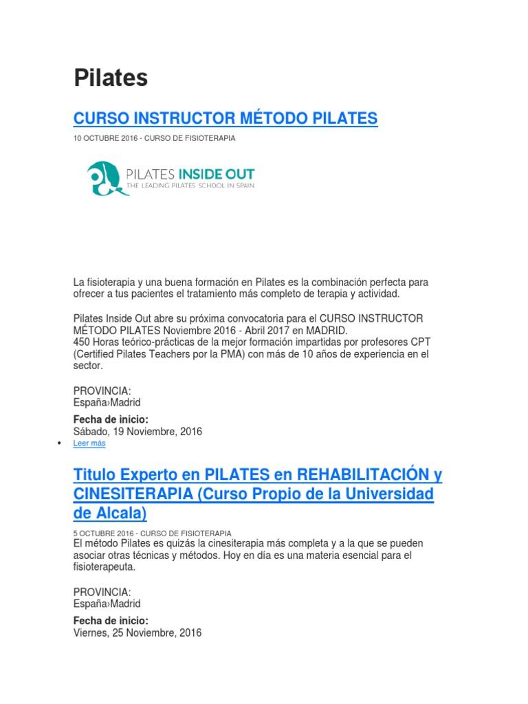 Único Mejor Currículum De Instructor De Pilates Imágenes - Colección ...