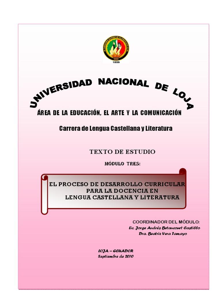 El Proceso de Desarrollo Curricular Ecuador