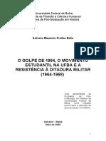 O Golpe de 1964 O Movimento Estudantil Na UFBA e a Resistência à Ditadura Militar