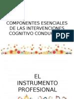 Clase 2 Componentes Esenciales de Las Intervenciones Cognitivo Conductual