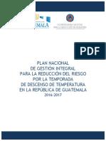 Plan Nacional Temporada Descenso de Temperatura 2016