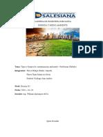 Tipos y Fuentes de Contaminación energia y medio ambiente