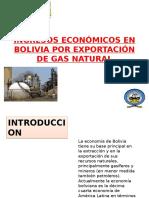 INGRESOS Económicos en Bolivia POR Exportación de Gas