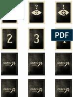 Cartas Gumshoe - Impressão