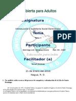 Tema II Historia Dominicana