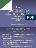Derecho Familia - Divorcio - Chile