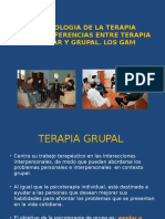 Metodologia de La Terapia Grupal