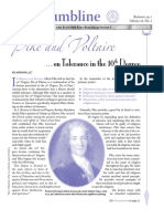Pike and Voltaire - On Tolerance in the 10th Degree