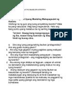 Mga Tip Sa Pagsulat Ng Maikling Kwento