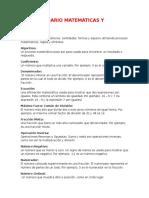 Diccionario Matemáticas y Biología