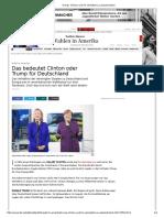 Trump, Clinton Und Ihr Verhältnis Zu Deutschland