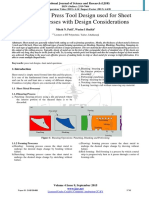 Press Tool Design Used for Sheet Metal