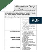 et 16 classroom management design plan