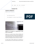 ¿Es El Arte Sonoro La Nueva Música?