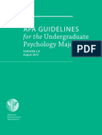 APA Guidelines for the Undergraduate Psychology Major 2.0