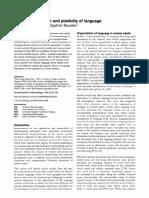 D03 Neville, H. & Baveiler, D. (1998). Neural organisation and plasticity.pdf